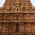 DSC_0579 – West side view – Harihara,Ardhanarishvara and 2 Chandrasekharas (with and without halo) in the lower niche.