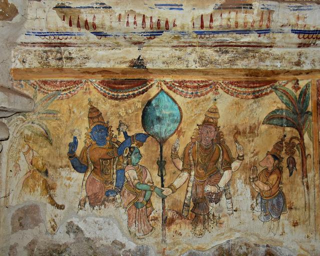DSC_0630 - Mural Painting, Cloister mandapa (N) - 16th CE Nayaka period - Kalyanasundaram legend.