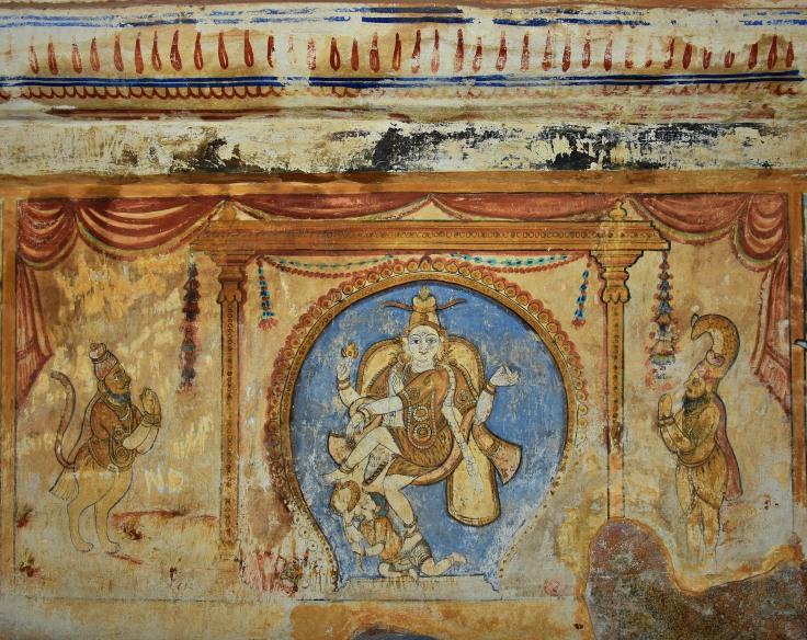 DSC_0631 - N side of Cloister - Chidambaram legend - Pathanjali and Vyaghrapatha witnessing Anandathandava of Nataraja.
