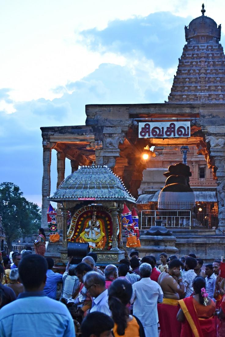 DSC_0691 - Sayaratchai or Evening pooja - Brihadheeswara temple complex, Thanjavur.