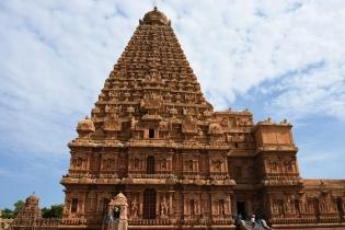 South face of Brihadeesvara temple, Thanjavur.