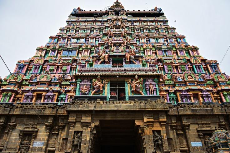 DSC_9691 - 7 storey Vimana of the Eastern Gopuram.