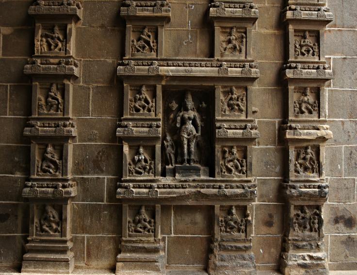 DSC_9700 - 108 Karanas of Bharatamuni's Natyashastra displayed on the inner side of Eastern gopuram.22cm long.