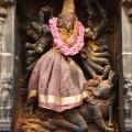 DSC_9729 – A representation of Shaktism – Mahishasuramardhini relief on the inner left side of Eastern gopuram.