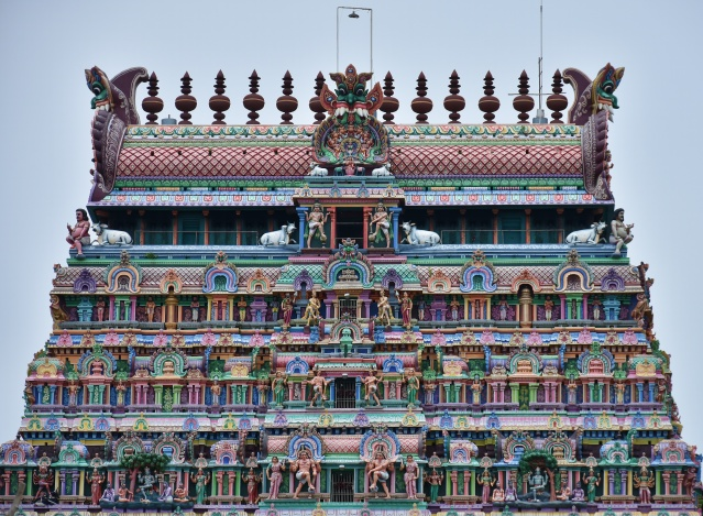 DSC_9775 - Superstructure or Vimanas of Northern gopuram (7 Storey).