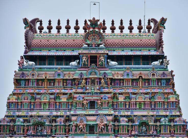 DSC_9775 - Superstructure or Vimanas of Northern gopuram (7 Storey).