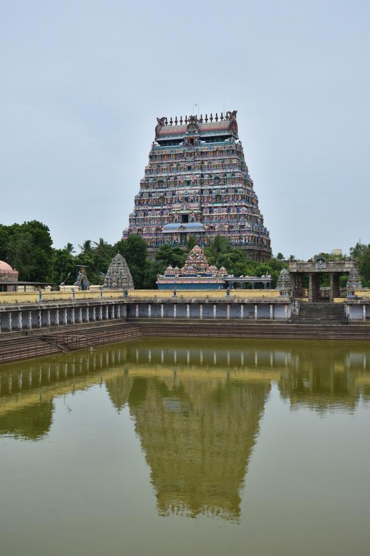 DSC_9797 - North gopuram and Shivgangai pool of Thillai Nataraja temple, Chidambaram.