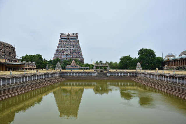DSC_9804 - North gopuram,1000 pillared hall on east and Shivgangai pool of Thillai Nataraja temple, Chidambaram.