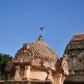 DSC_9896 – Circular griva with Shikhara and Kirtimukhas – Chandikesvara temple.