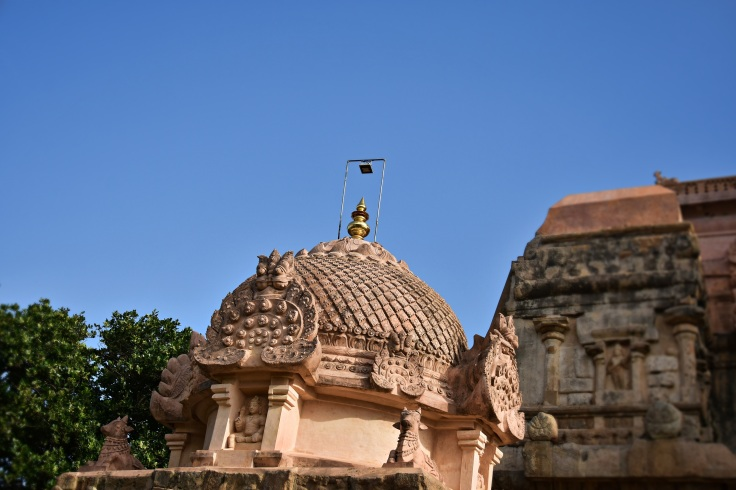 DSC_9896 - Circular griva with Shikhara and Kirtimukhas - Chandikesvara temple.