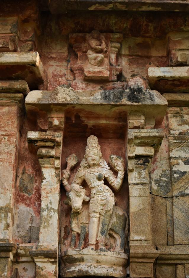 DSC_9923 - Ardhanarishvara with Nandi displayed at north of Amman temple.