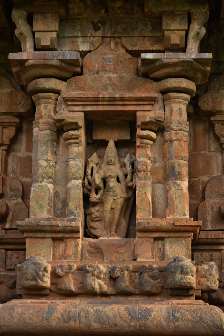 DSC_9926 - Display of Durga with lion - north wall of Brihadisvara.