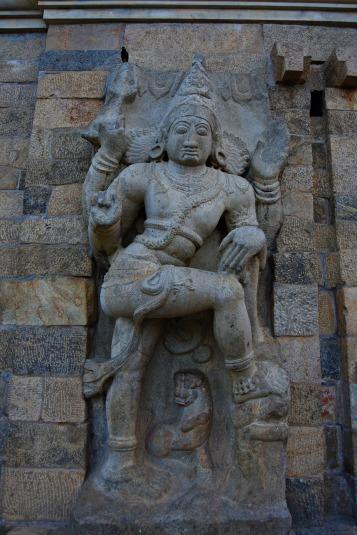 Dvarapalaka on the left side of the eastern entrance to Mahamandapa.