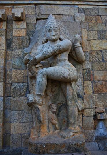 Dvarapalaka on the right side of the eastern entrance to Mahamandapa.