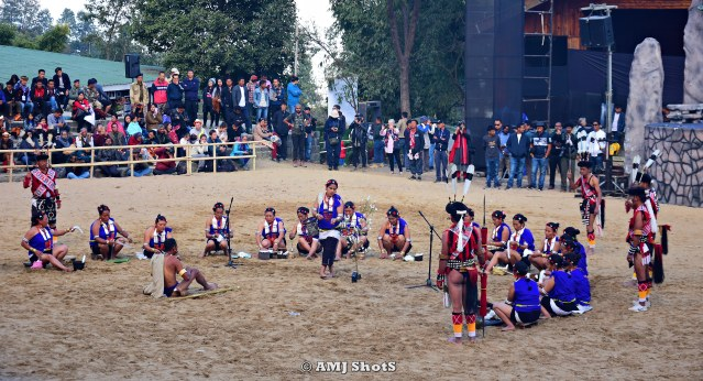 DSC_1692 Rengma tribe performing Tefu Kethyu Lu (Cotton spinning song).