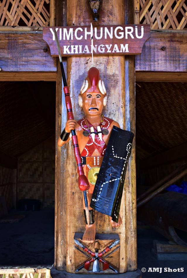 DSC_1828 Wooden sculpture of a Yimchunger tribal warrior.