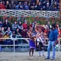 DSC_2245 Garo man congratulating the Zeliang man for winning the Ro'ong Dea challenge.