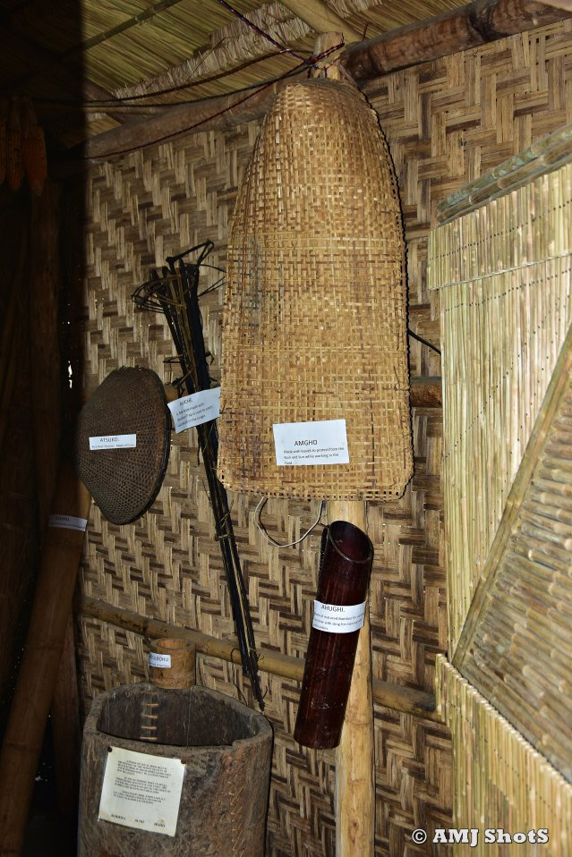 DSC_2963 Inside Sumi Ki Morung - Heritage wooden and bamboo made artefacts.