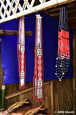 Ornaments of Khiamniungan Nagas - Necklaces and cross belts