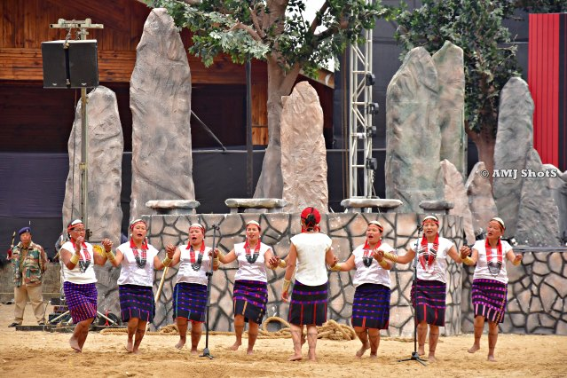 DSC_3340 Phom tribe performing a folk song and dance - Monyu Dhonghpu Asho