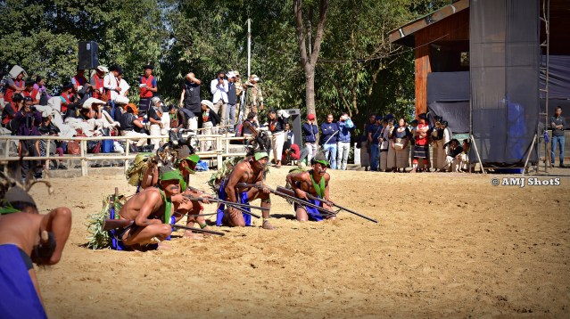 DSC_3616 Konyak tribe showing Zansingbu Zanglan - Gun firing using Matchlock guns.