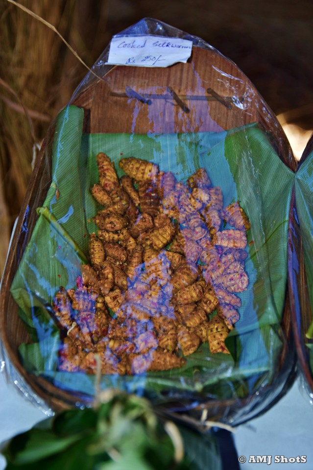 DSC_3835 Cooked Silkworm from Lotha morung.